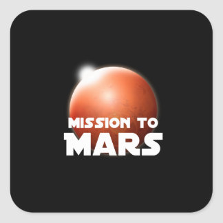 Mission to Planet Mars Square Sticker