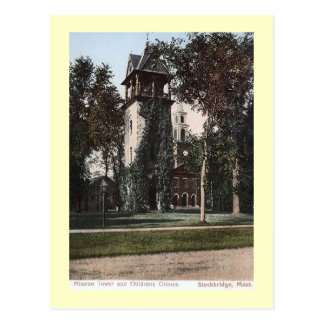 Mission Tower, Stockbridge, Massachusetts Vintage Postcard