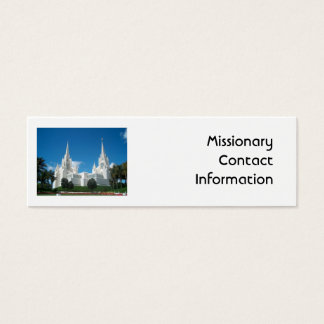 Missionary Contact Card