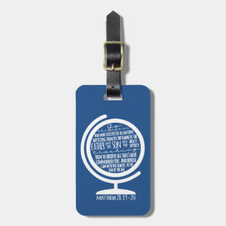 Missions Scripture Luggage Tag