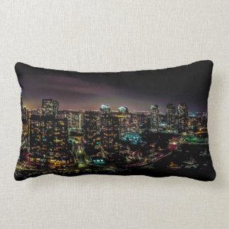 Mississauga At Night Lumbar Pillow