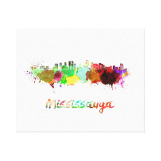 Mississauga skyline in watercolor canvas print