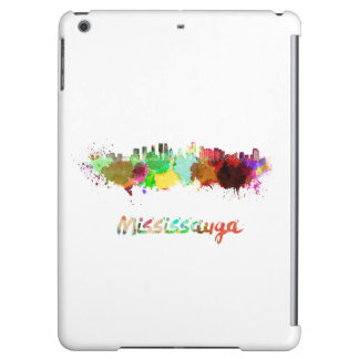 Mississauga skyline in watercolor cover for iPad air