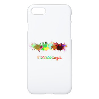Mississauga skyline in watercolor iPhone 8/7 case