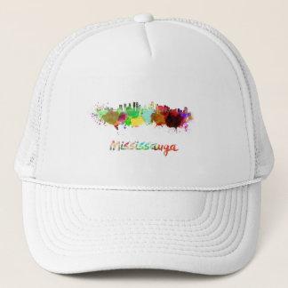 Mississauga skyline in watercolor trucker hat