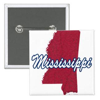 Mississippi 2 Inch Square Button