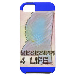 """""""Mississippi 4 Life"""" State Map Pride Design iPhone 5 Covers"""