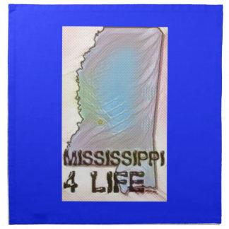"""Mississippi 4 Life"" State Map Pride Design Napkin"