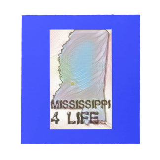 """Mississippi 4 Life"" State Map Pride Design Notepad"