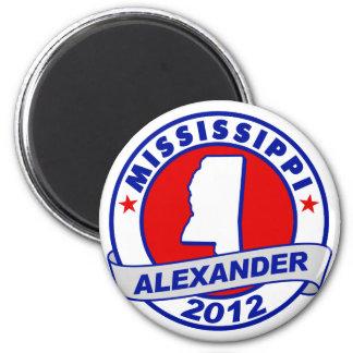 Mississippi Alexander 2 Inch Round Magnet