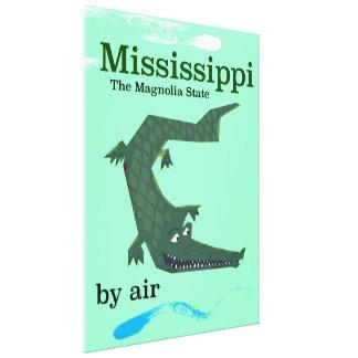 Mississippi Alligator vintage travel poster Canvas Print