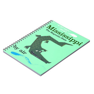Mississippi Alligator vintage travel poster Notebooks