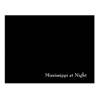Mississippi at Night Postcard