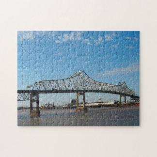 Mississippi  Bridge Louisiana . Jigsaw Puzzle