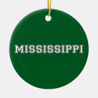 Mississippi Ceramic Ornament