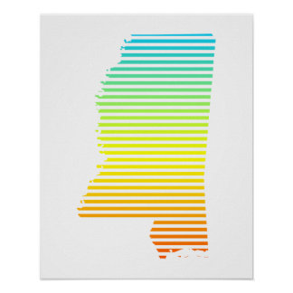 mississippi chill fade poster