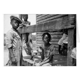 Mississippi Delta children by Dorothea Lange Card