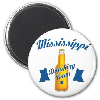 Mississippi Drinking team 2 Inch Round Magnet