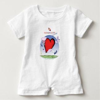 mississippi head heart, tony fernandes baby romper