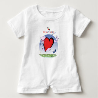 mississippi head heart, tony fernandes baby romper