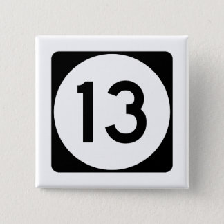 Mississippi Highway 13 2 Inch Square Button