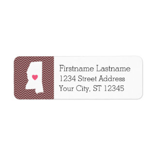 Mississippi Home State Love with Custom Heart