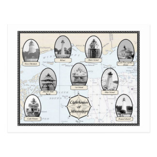 Mississippi Lighthouses Postcard