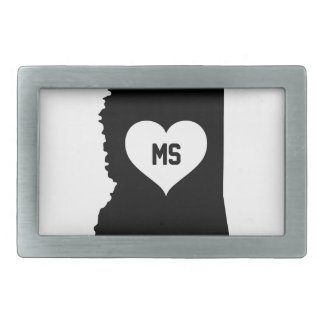 Mississippi Love Rectangular Belt Buckle