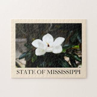 Mississippi magnolia flower puzzle