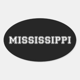 Mississippi Oval Sticker