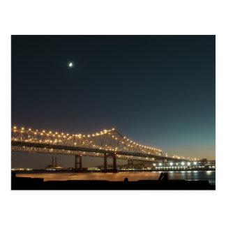 Mississippi River at Night in the Big Easy Postcard