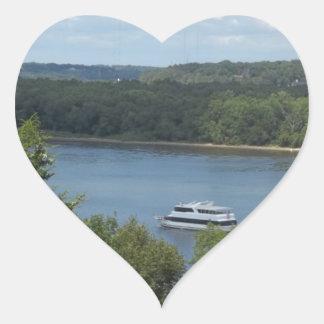 Mississippi River Boat Heart Sticker