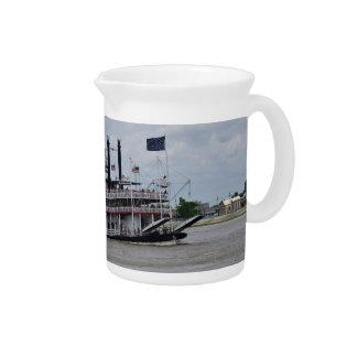 Mississippi River Boat New Orleans Beverage Pitcher
