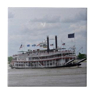 Mississippi River Boat New Orleans Ceramic Tile