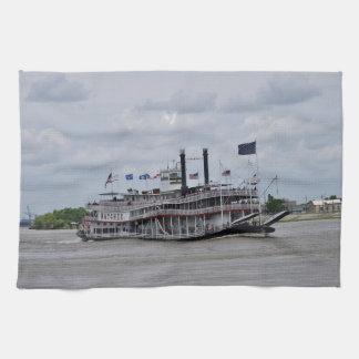Mississippi River Boat New Orleans Kitchen Towels