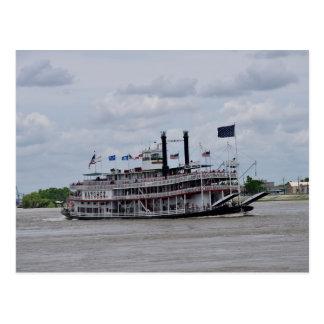 Mississippi River Boat New Orleans Postcard