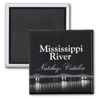 Mississippi River Bridge - Natchez Vidalia magnet