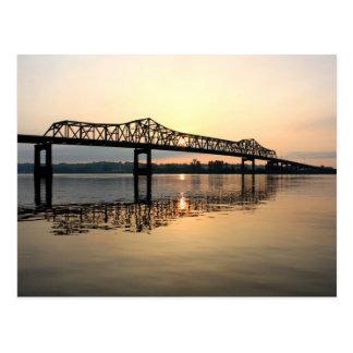 Mississippi River Bridge Postcard