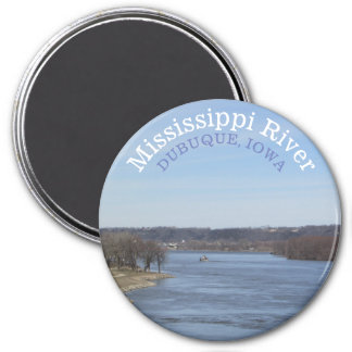 Mississippi River, Dubuque Iowa Souvenir Magnet