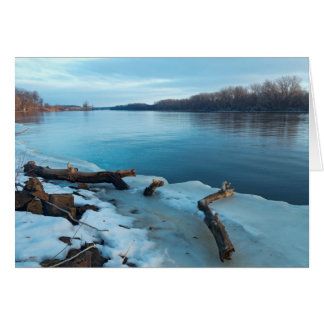 Mississippi River Icy Banks at Daybreak Card