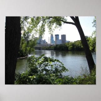 Mississippi River @ Minneapolis Poster