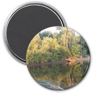 Mississippi River Reflection Photo Magnet