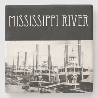 Mississippi River Steamboat limestone coaster
