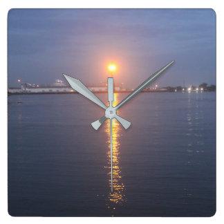 Mississippi River Sunrise Clock