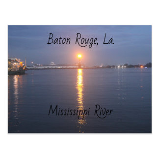 Mississippi River Sunrise Postcard
