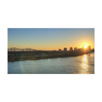 Mississippi River Sunset Canvas
