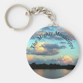 Mississippi River Sunset Keychain