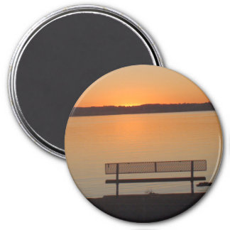 Mississippi River Sunset Photo Magnet