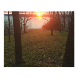 Mississippi River Sunset Photo Print