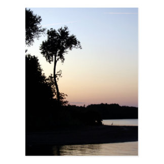Mississippi River Sunset Postcard